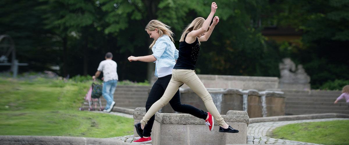 3 Freundinnenfotos im Stadtpark Fotograf Reutlingen